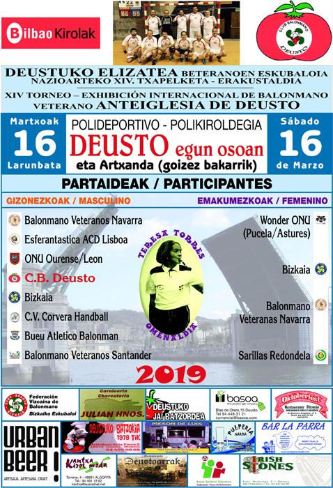 XIV Torneo-Exhibición Internacional de Balonmano Veteranos ANTEIGLESIA DE DEUSTO