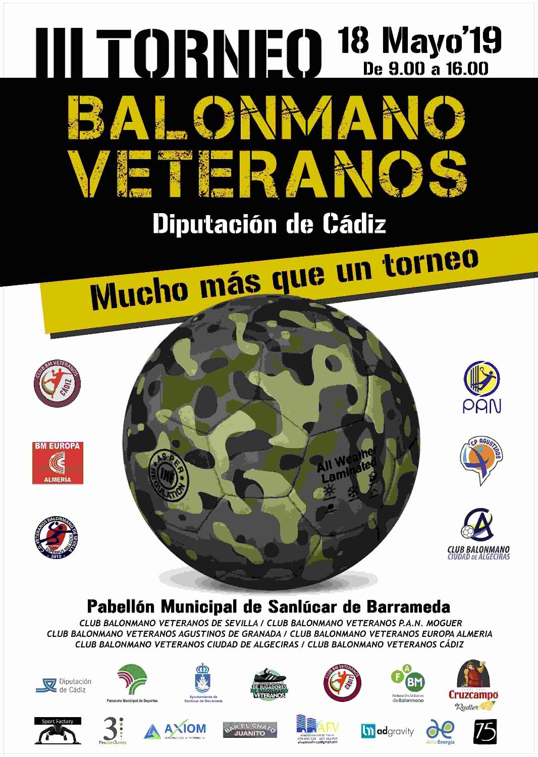 Sanlucar de Barrameda lll Torneo balonmano veteranos Cádiz,