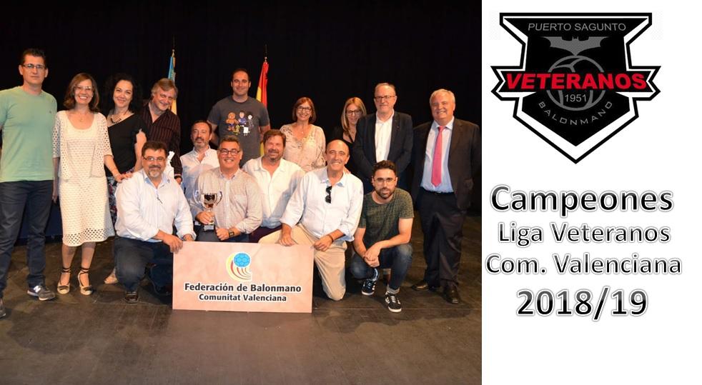 PUERTO SAGUNTO: Campeón  de la Liga de Veteranos de la Comunidad Valenciana